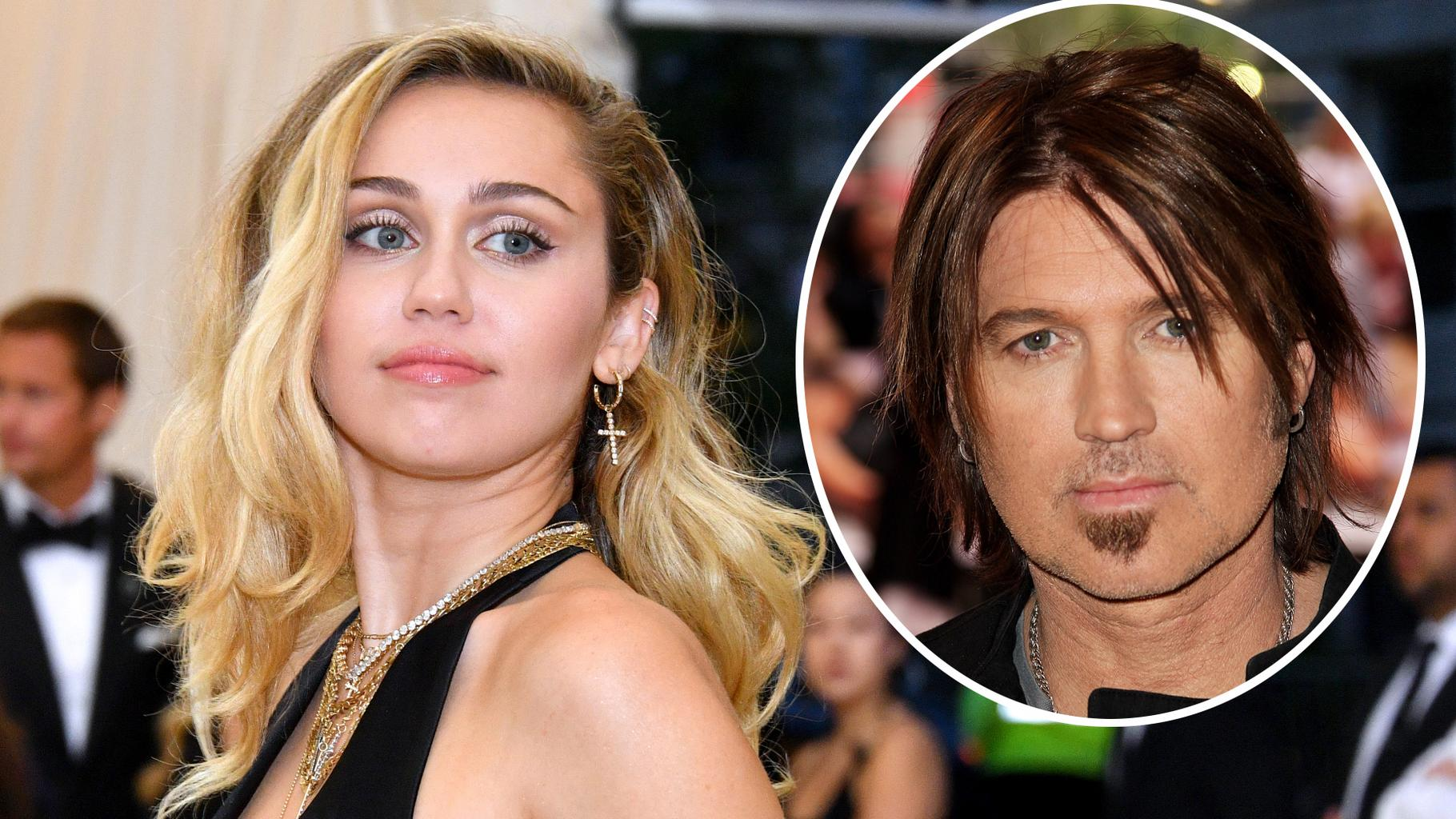 Miley Cyrus Shows Off New Mullet Hairstyle And She Looks Just Like Her Dad Billy Ray Celebrity Heat
