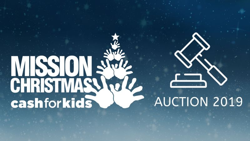 Cash for Kids auction finishes TODAY