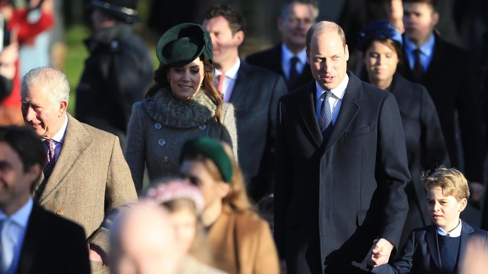 Will And Kate Head To Church At Sandringham
