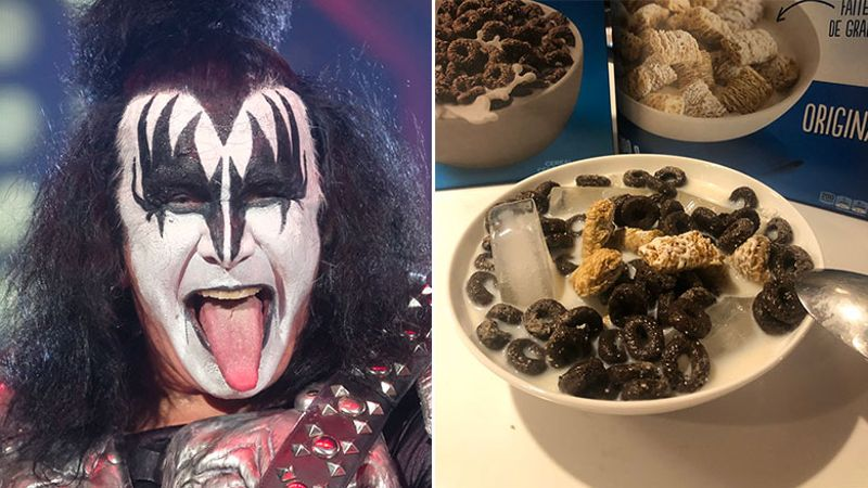 Gene Simmons breaks his silence on putting ice cubes in his cereal