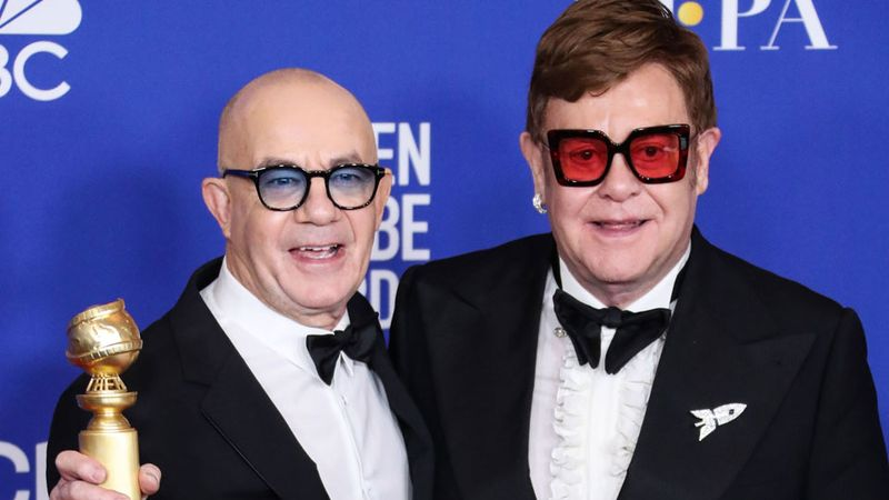 Elton John and Bernie Taupin pick up Best Original Song at the Golden Globes