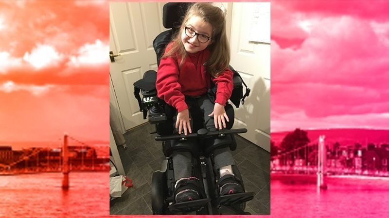 Fundraising target reached for Inverness girl's new wheelchair