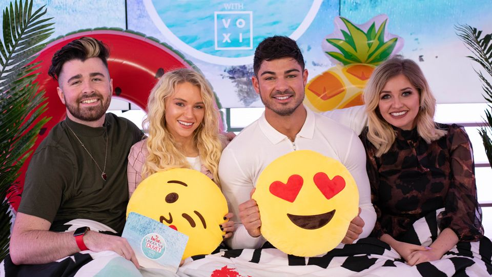 WATCH heat's Under the Duvet with VOXI: Episode 1 with Love Island's Anton Danyluk, Lucie Donlan and Amy Hart