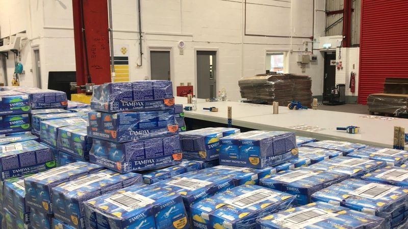 Period Poverty: Inside the Birmingham warehouse supplying free period products to 22,000 schools