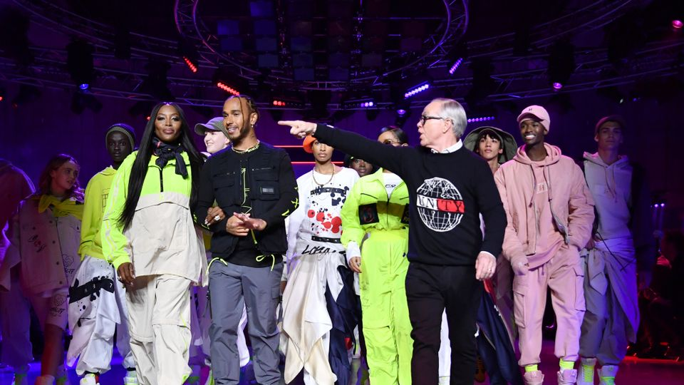 Image result for tommy hilfiger and lewis hamilton london fashon week