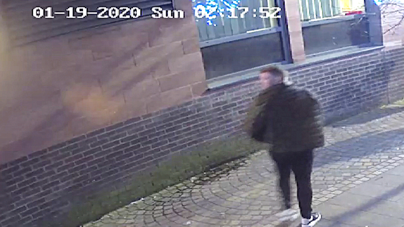 Police search for a man who bit off part of an Altrincham teenager's ear