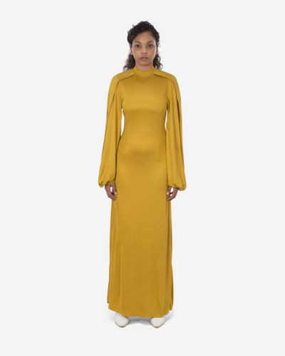 Pyer Moss, Wrap Sleeve Maxi Dress, £438