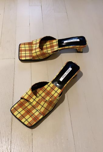 More Than, Nikki Plaid Slides, £72