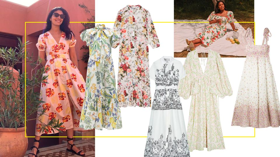 It Looks Like Floral White Maxis Are The Summer's New Favourite Dress