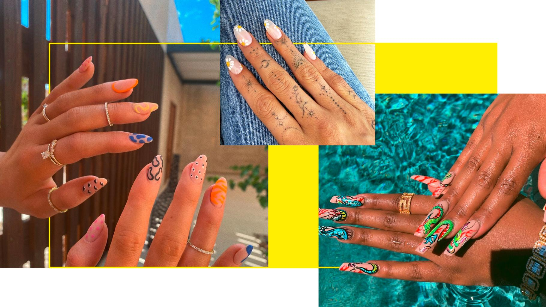 Gallery The Best Celebrity Nail Art To Take All The Mani Inspo From   Grazia is free HD wallpaper.