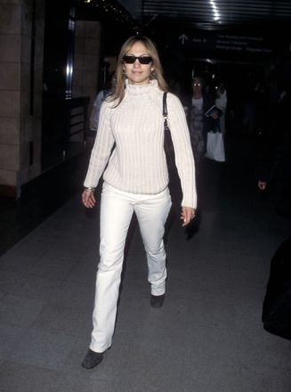 JLo at LAX in 1998