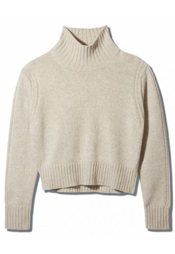 & Daughter, Fintra Lambswool Crop High Neck, £285
