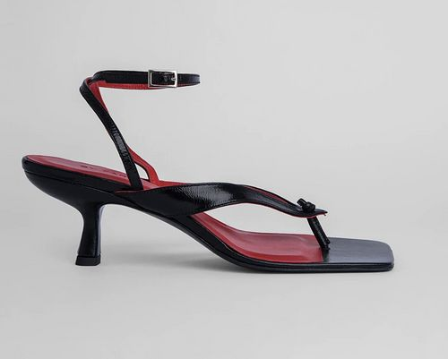By Far, Mindy Black Sandals, £310
