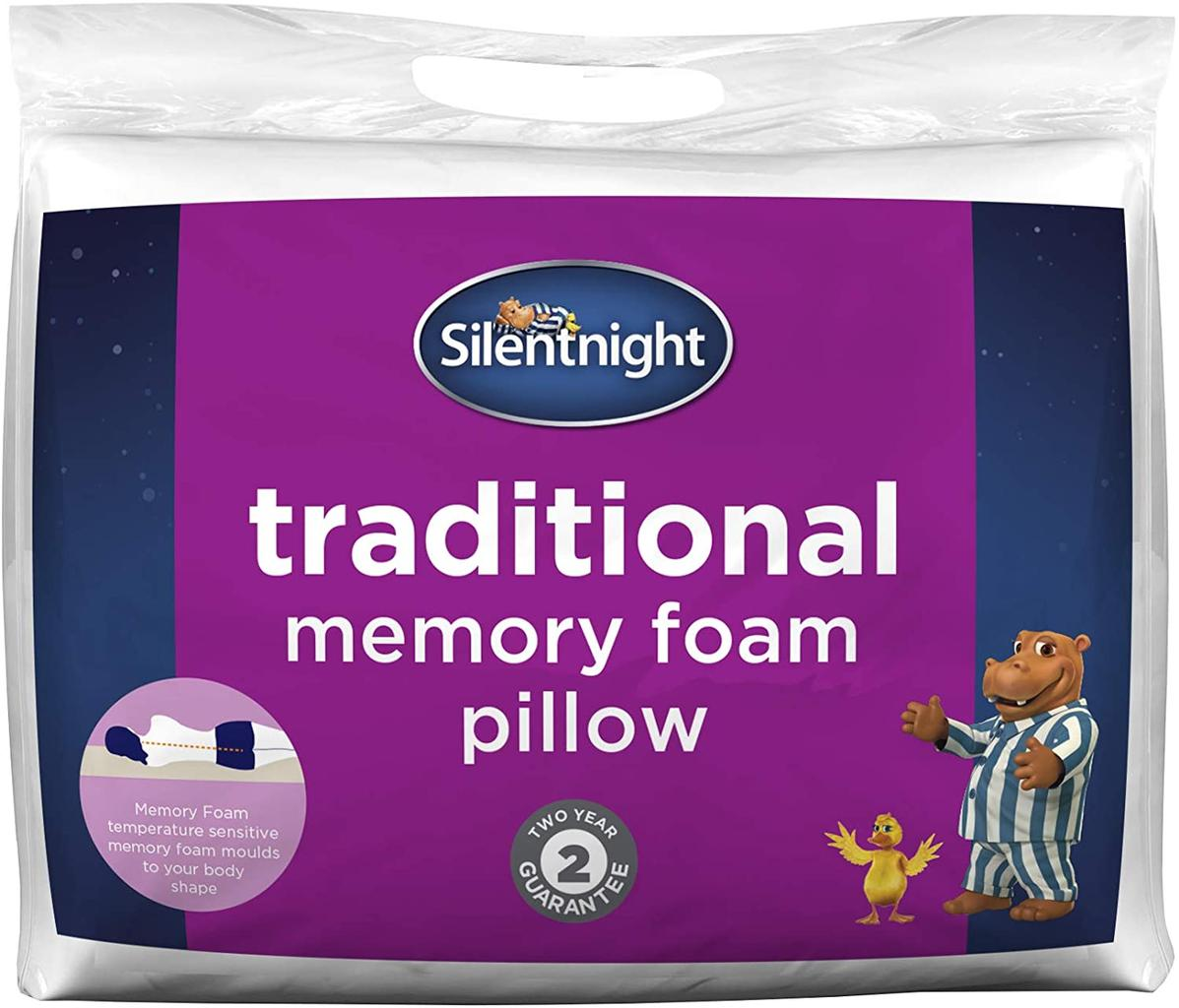 Silent Night Memory Foam Pillow, £8 at