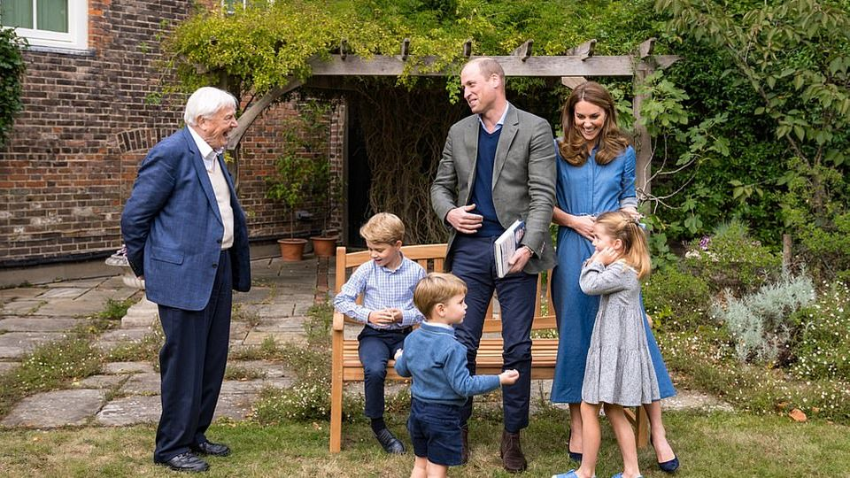 The Cambridges Are Treated To A Garden Visit From Sir David Attenborough