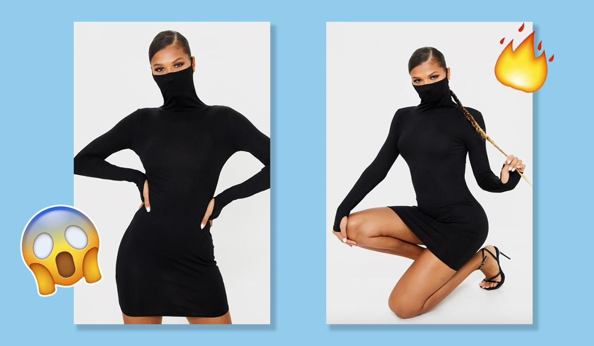 Prettylittlething Have Launched A 15 Face Mask Dress And It S Peak 2020 Shopping Heat