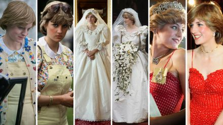 how do emma corrin s on screen outfits in the crown compare to the real ones worn by princess diana grazia real ones worn by princess diana