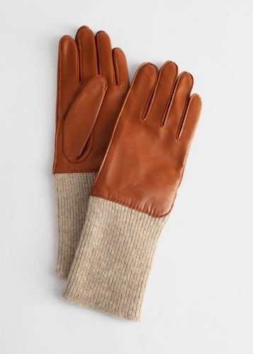 & Other Stories, Ribbed Cuff Leather Gloves, £55