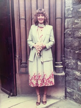 Alice's mother Jane wore her own wedding outfit in 1978