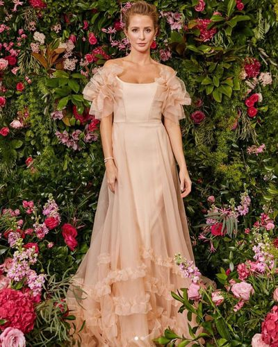 Millie Mackintosh in Halfpenny London's pink Mayfair dress