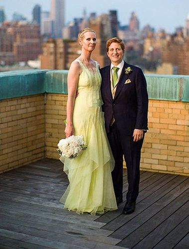 In 2012, Cynthia Nixon wore a yellow ruffled dress for her wedding to Christine Marinoni