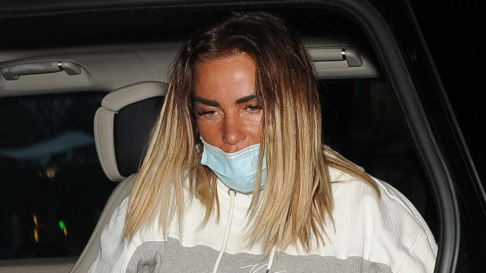 Katie Price 'devastated' after doctors put her back in post-surgery boots