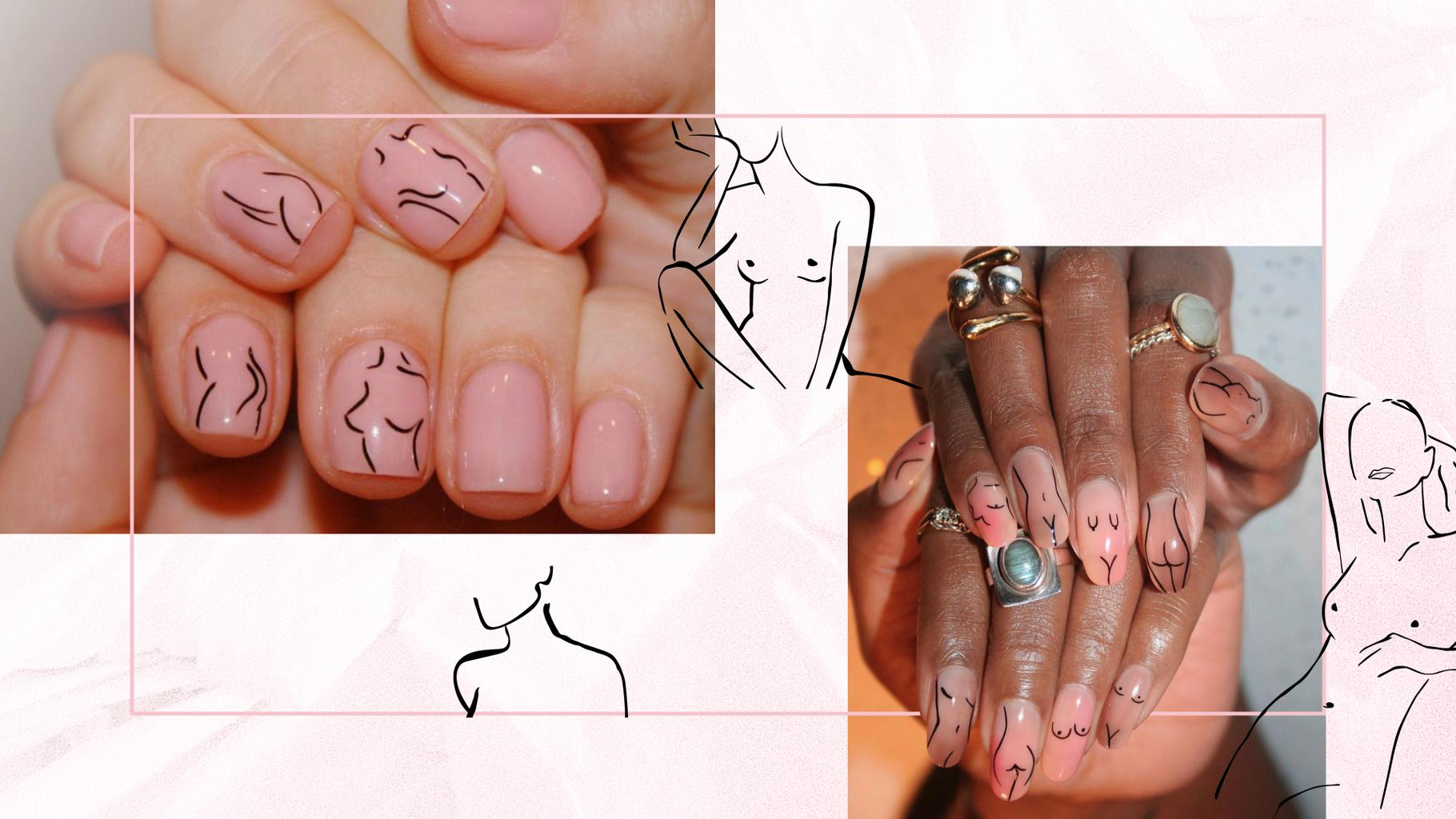Nudes On Nails Why One Nail Artist On Instagram Has Us In A Spin ...