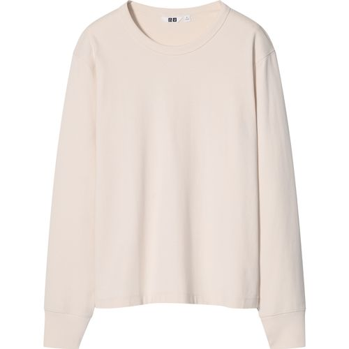 Uniqlo, Cotton Crew-Neck Long Sleeved T-shirt, £14.90