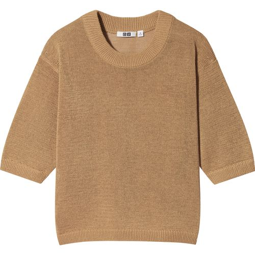 Uniqlo, Cotton-Blend Crew-Neck Half-Sleeved Jumper, £24.90