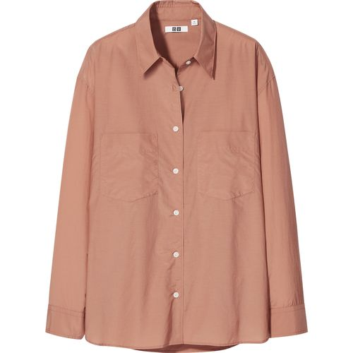 Uniqlo, Sheer Striped Long-Sleeved Shirt, £24.90