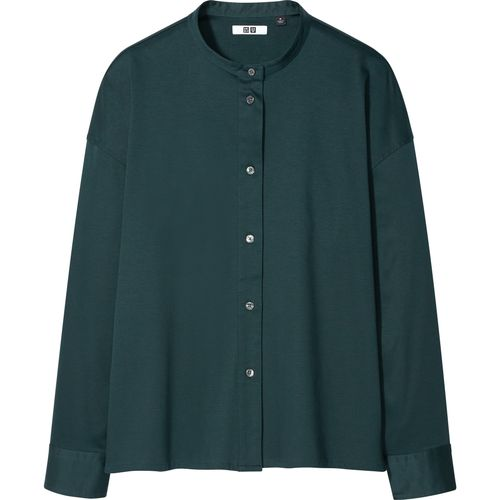 Uniqlo, Mercerised Cotton Stand Collar Long-Sleeved Shirt, £34.90