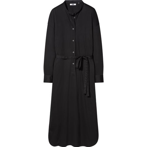 Uniqlo, Mercerised Cotton Belted Long-Sleeved Dress, £39.90