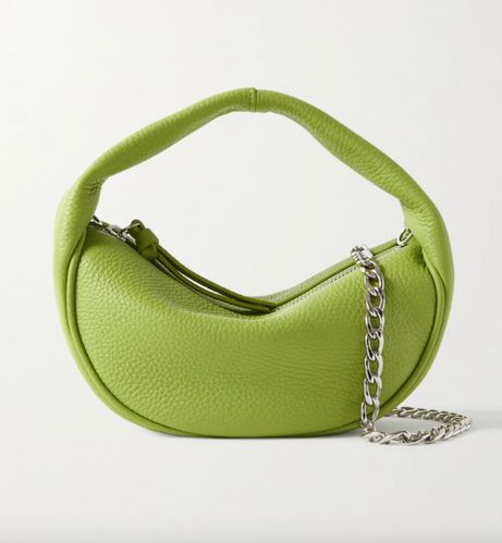 By Far, Baby Cush Chain-Embellished Textured-Leather Shoulder Bag, £355