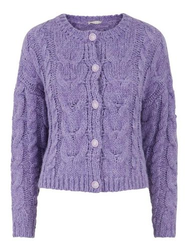 Iris & Violet, Knitted Purple Cardigan, £38