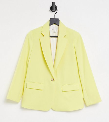 Topshop Petite clean crepe blazer in lemon