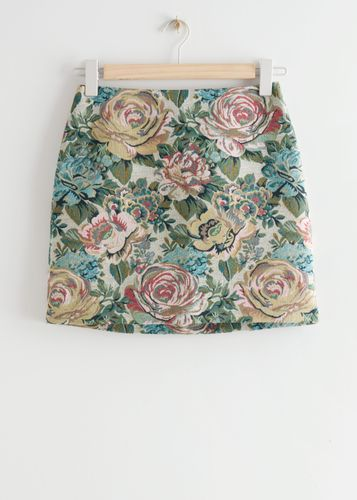 & Other Stories, Floral Jacquard Mini Skirt, £65