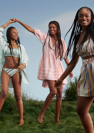 Liya Kebede in her collection for H&M