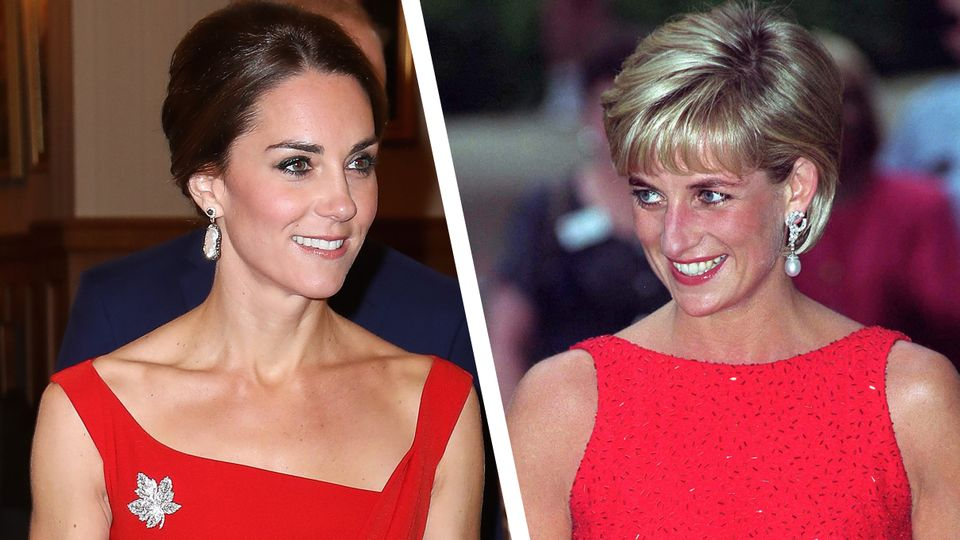 Is Kate Middleton following in Princess Diana's fashion footsteps?