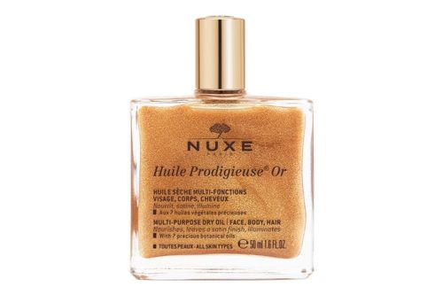 NUXE Huile Prodigieuse Or Golden Shimmer Multi-Purpose Dry Oil for Face, Body and Hair