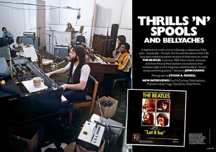 The opening spread of MOJO's 13-page Get Back/Let It Be feature.