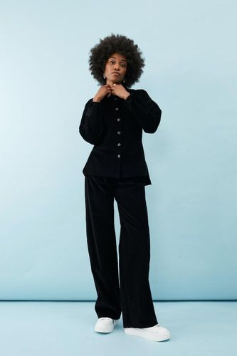 Phoebe Grace, Nancy Shirt In Recycled Fine Black Cotton Cord, £ 175