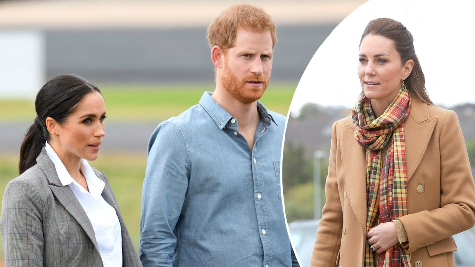 Royal bombshell! Palace insider: 'Kate's secret USA visit will rock Meghan and Harry'